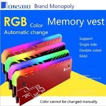 Настольный радиатор памяти кулер оболочка RGB 256 цвет автоматическое изменение алюминиевый радиатор ram охлаждающий жилет