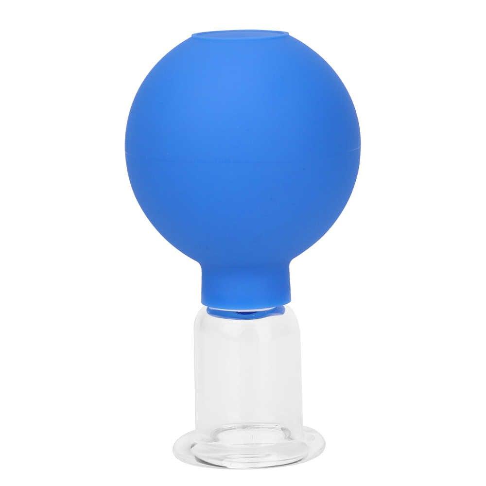 Gummi Kopf Glas Vakuum Schröpfen körper Massager ventosa Saugnäpfe Glas vakuum saug therapie schröpfen set dosen für massage