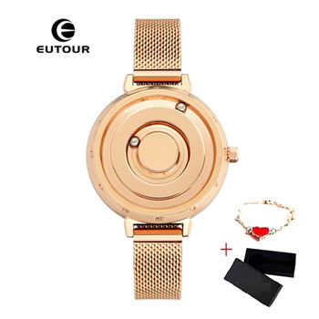 EUTOUR women watches magnetic ladies watches top brand luxury female stainless steel watch gold quartz wristwatch reloj mujer top luxury women watch stainless steel elegant big dial ladies clock high quality net belt quartz wristwatch drop shipping reloj