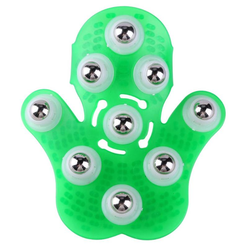 Купить с кэшбэком Body Massage Glove Roller Anti-Cellulite Pain Relief Relax Massager Neck Shoulder Massage Gloves Health Care