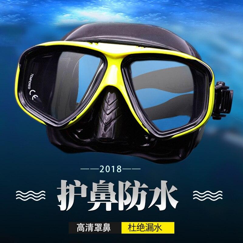 Large Frame Goggles For Defending Diving Mask Vision Single Anti-fog Snorkeling Glasses Mask Adult Kids Swimming Myopia