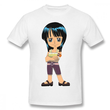 100% cotton One Piece Archaeologist Robin print casual mens o-neck t shirts fashion Mens Basic Short Sleeve T-Shirt