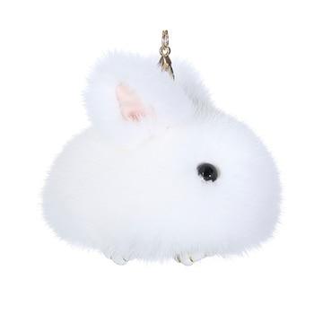 Mink fur little jade rabbit pendant cute little rabbit pendant mini version pack Dead Rabbit bag key chain