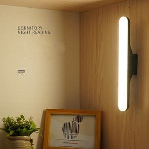 Creative Magnet LED Reading Lamp Stepless Dimmable Wall Lamp Built In USB Rechargeable Battery For Desk Studing Mirror Cabinet