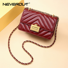 NEVEROUT High Quality Sheepskin Genuine Leather Bags for Wom
