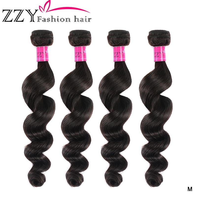 ZZY Fashion Loose Deep Wave Bundles Human Hair Bundles 4 Pieces Brazilian Non-remy Hair Weave Bundles