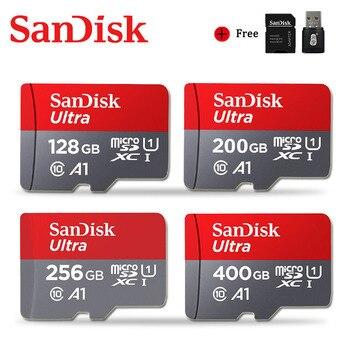 Sandisk карта памяти Micro SD, класс 10, 128 ГБ, 200 ГБ, 256 ГБ, 400 гб