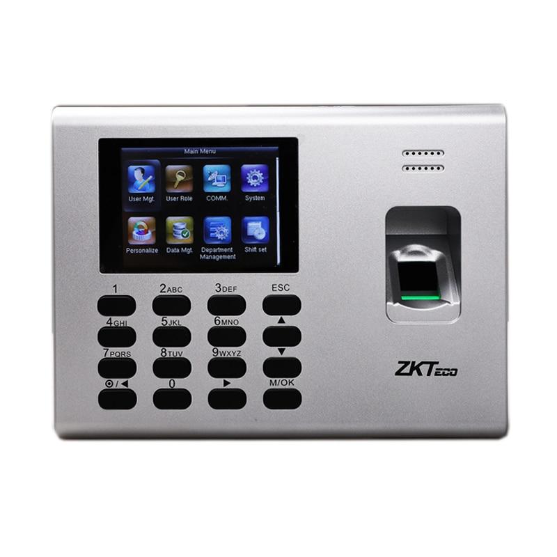 Built In Battery ZKTeco K40 Time  Attendance Terminal Machine Simple Acccess Control Multi Languages Biometric Fingerprint