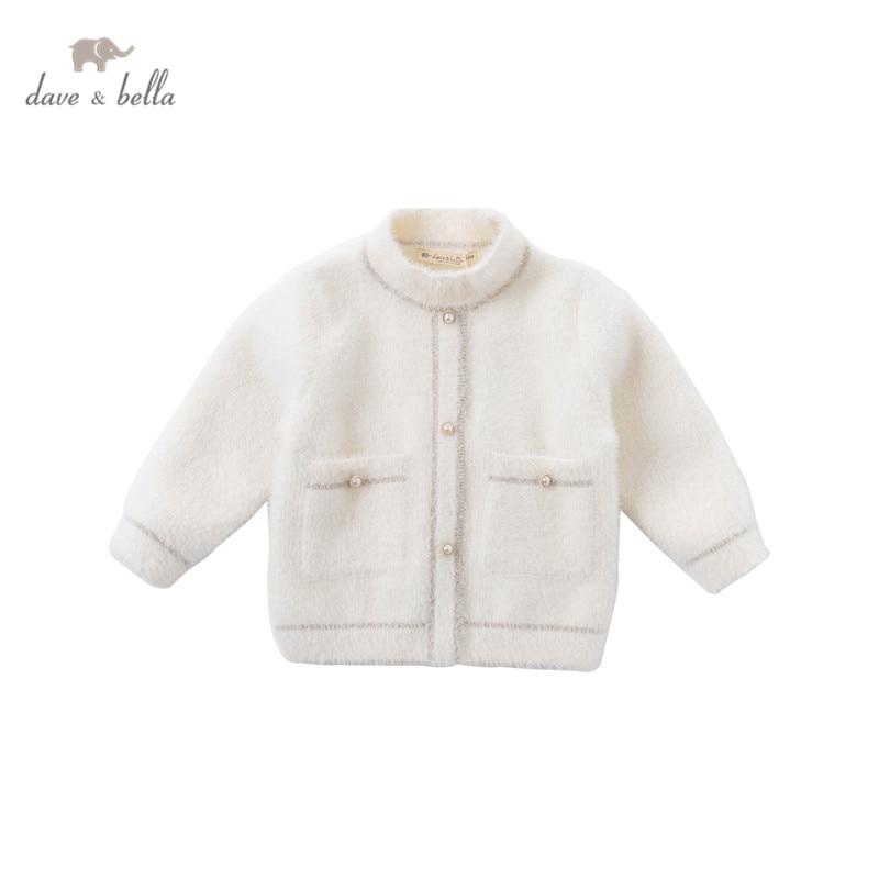 DB15394 dave bella Зимний милый вязаный свитер с карманами для маленьких девочек, модные детские топы из бутика для малышей|Свитера| | АлиЭкспресс
