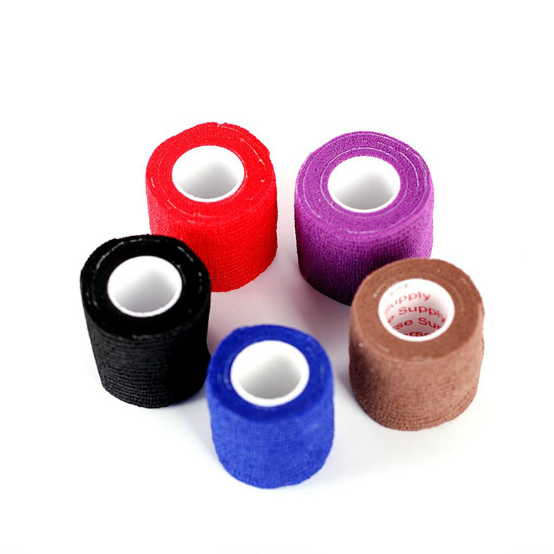 1PC Disposable Self Adhesive Elastic Bandage For Handle With Tube Tightening Of Tattoo Accessories Random Color in Tattoo accesories from Beauty Health