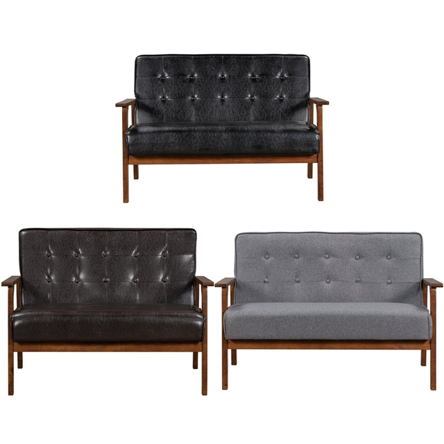Loveseat Sofa Leather 2-Seat Couch 2