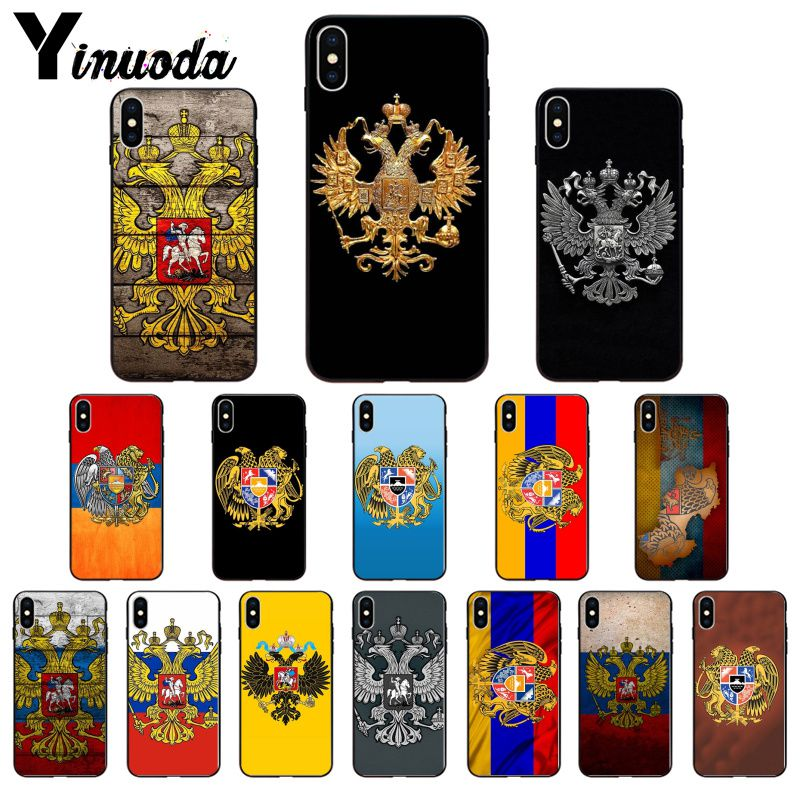 Russia Coat of arms Double headed eagle Cute Phone Case For Apple iPhone 11 8 7 6 6S Plus X XS MAX 5 5S SE XR 11 pro Cover