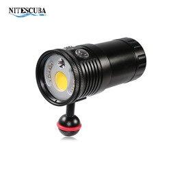 Nitescuba NSS60 Дайвинг видео светильник 6000 люмен с красным и УФ-светильник для подводной фотографии светильник для дайвинга