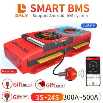 BMS DALY SMART BT 4S S 7S 8S 8S 12 13 14 15 16 17S 20S Con ventilador, hasta 500A, para batería de litio, Li-ion, LiFePO4, LTO, 3S-24, bluetooth 1