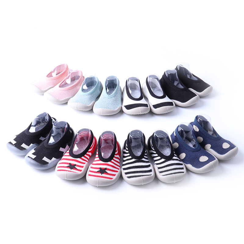 2019 Shallow Mouth Newborn Shoes Baby Indoor Shoes Non-slip Baby Socks Shoes Baby Toddler Shoes Soft Rubber Bottom Floor Socks