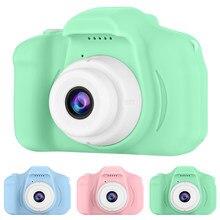 Minicámara Digital para niños y niñas, lente de 13MP, 2 pulgadas, pantalla HD, recargable por USB, con tarjeta de memoria de 32G, regalo