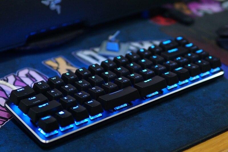 עכברים - מקלדות Magigforce Smart 49 מפתח 40% USB Mini Wired backlit מקלדת מכנית עם Detacheable בכבלים Gateron שרי ציר teclado גיימר (1)