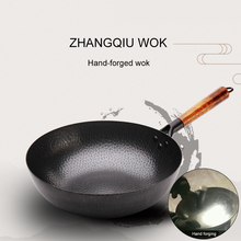 Stainless Cast Iron Pot Hand Forging Non-Stick Uncoated Wok Stainless Wok Frying Pan Non-Stick Cookware Kitchen Cooking Pot stainless steel frying pan set pot uncoated non stick pan household cooking pot with induction cooker pan kitchen pot