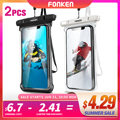 2PCS Waterproof Phone Case Swimming Dry Bag Water Proof Bag Underwater Case Mobile Phone Pouch Cover For iPhone 12 11 Pro Max8