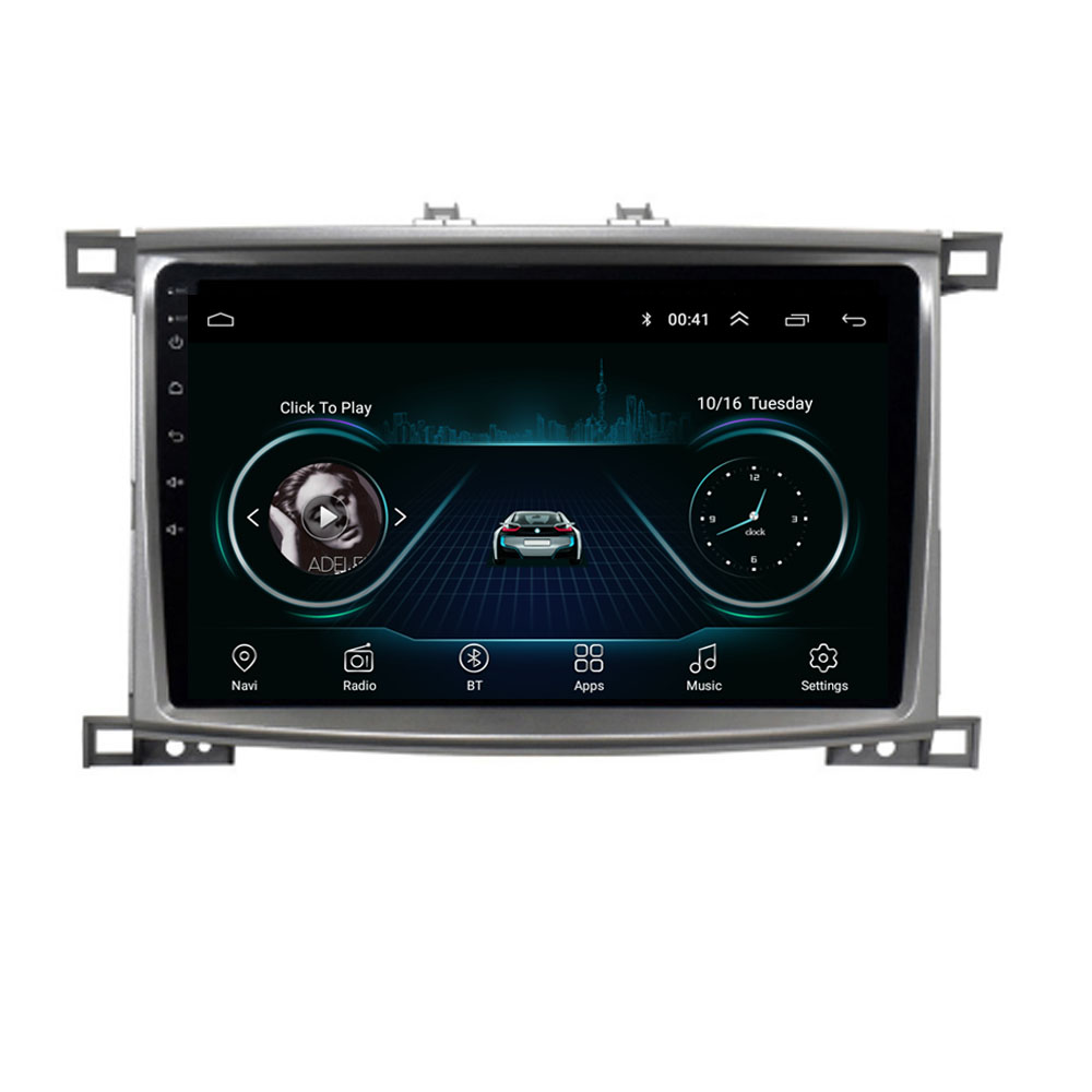 4G LTE Android 10.1/9/8.1 For <font><b>Toyota</b></font> Land cruiser <font><b>100</b></font> <font><b>LC</b></font> <font><b>100</b></font> Multimedia Stereo Car DVD Player Navigation GPS Radio image