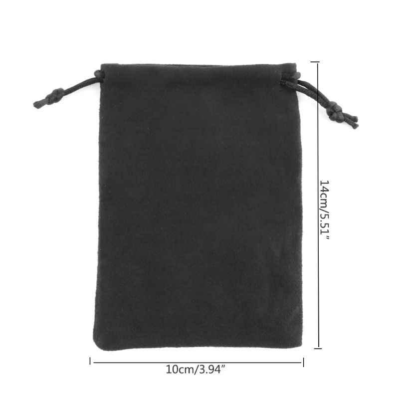 2020 novo 1pc saco de dados de camurça d & d flannelette saco tarô cartão jóias cordão saco de armazenamento