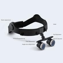 2.5X Headset Magnifying Glass Medical Binocular Magnifying Glass Surgical Medical Operation with Spotlight Headlight