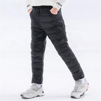 Winter Children Down Cotton Padded Pants Baby Boys Girls Clothing Solid Ski Windproof Warm Trouser Kids Snow Pant Teen Leggings 1