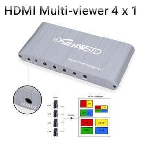 Multi porta do multivisor 1080 p pip multi 4 para a tevê do computador portátil dvd do conversor de imagem 4x1 do switcher 4 do visualizador de imagem de hdmi|  -