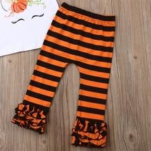 Halloween Girl Unicorn Pumpkin Shirt Pants Outfit Set