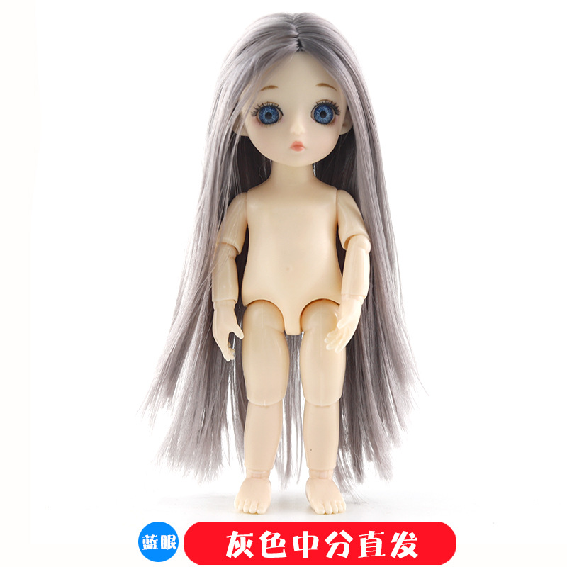 16cm 13 Movable Jointed BJD Dolls Toys Mini BJD Baby Girl Boy Doll Naked Nude Body 3D Eye Fashion Dolls Toy for Girls Gift 8