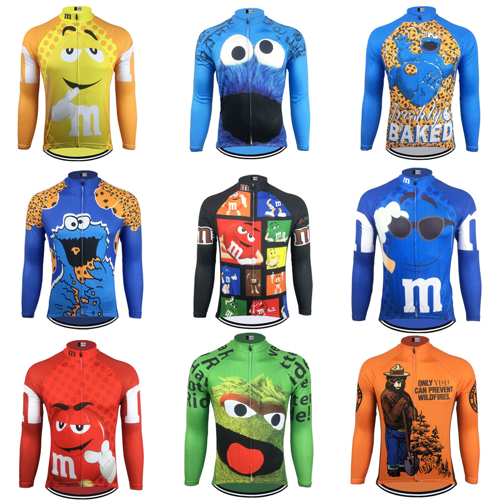 Cycling Jersey men long sleeves winter fleece and no fleece 9 style cycling clothing bike wear ropa ciclismo mtb jersey