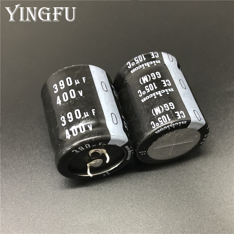 2PCS 390uf 400v Nichicon GG 30x35mm 400V390uF Snap-in PSU Capacitor