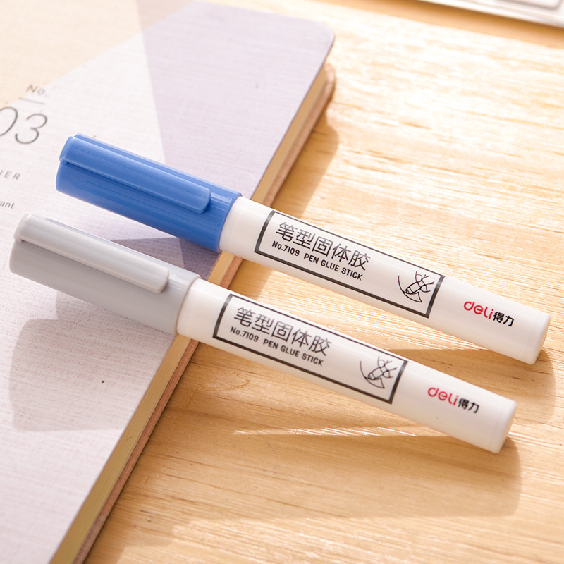 Deli 7109 Pen Type Solid Glue Creative Office Solid Glue Stick Young STUDENT'S For Children Handmade Lesson Glue Wholesale