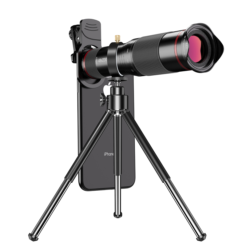 48X 4K HD Zoom Phone Camera Lens Telescope Lens for Cell Phone Mobile Telephoto Zoom Lente add Tripod Monocular for iPhone