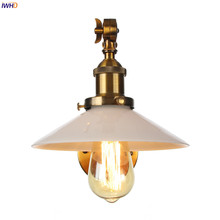IWHD White Glass Gold LED Wall Light Fixtures Bedroom Porch Stair Adjustable Long Arm Vintage Wall Lamp Sconce Lampara Pared iwhd golden led wall light bathroom bedroom glass ball wall lamp modern sconce led stair lights lamparas de pared