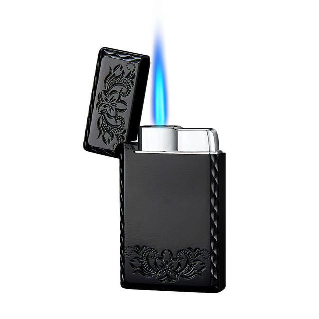 2020 New 1300C Blue Flame Butane Turbo Lighter Square Mini Gas Lighter Metal Lighters Smoking Accessories Cigarettes Lighters 6
