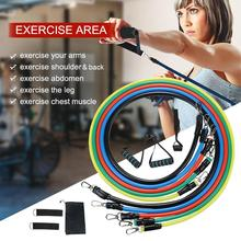 11pcs iron Pull Rope Resistance Bands Set Resistance Training  Home Workouts Yoga Band Gym Fitness Equipment oushi multifunctional resistance bands 11pcs set