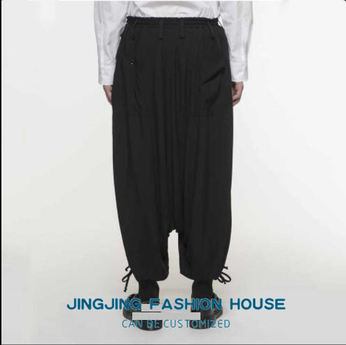 S-6XL!!New style male youth personality harun baggy pants low crotch casual pants men's pants loose nine pants 5