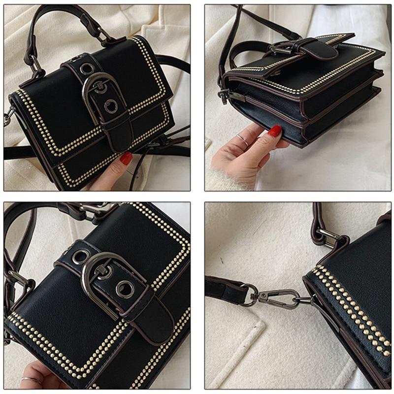 2020 Luxury Handbags Women Bags Designer Mini Flap Pu Leather Embroidery Female Shoulder Bag for Ladies Crossbody Messenger Bag