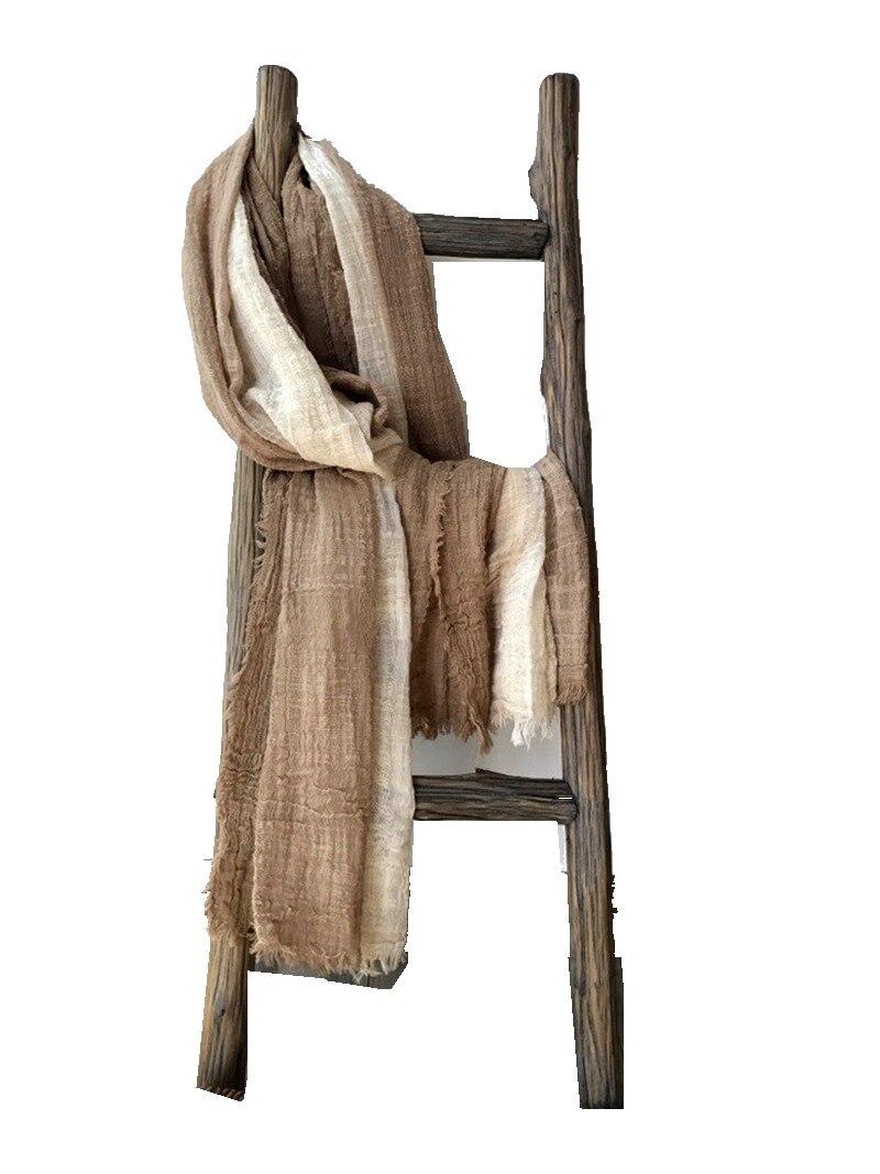 Unisex Vintage Style Scarf Medieval Mori Girls Gradient Cotton Scarves