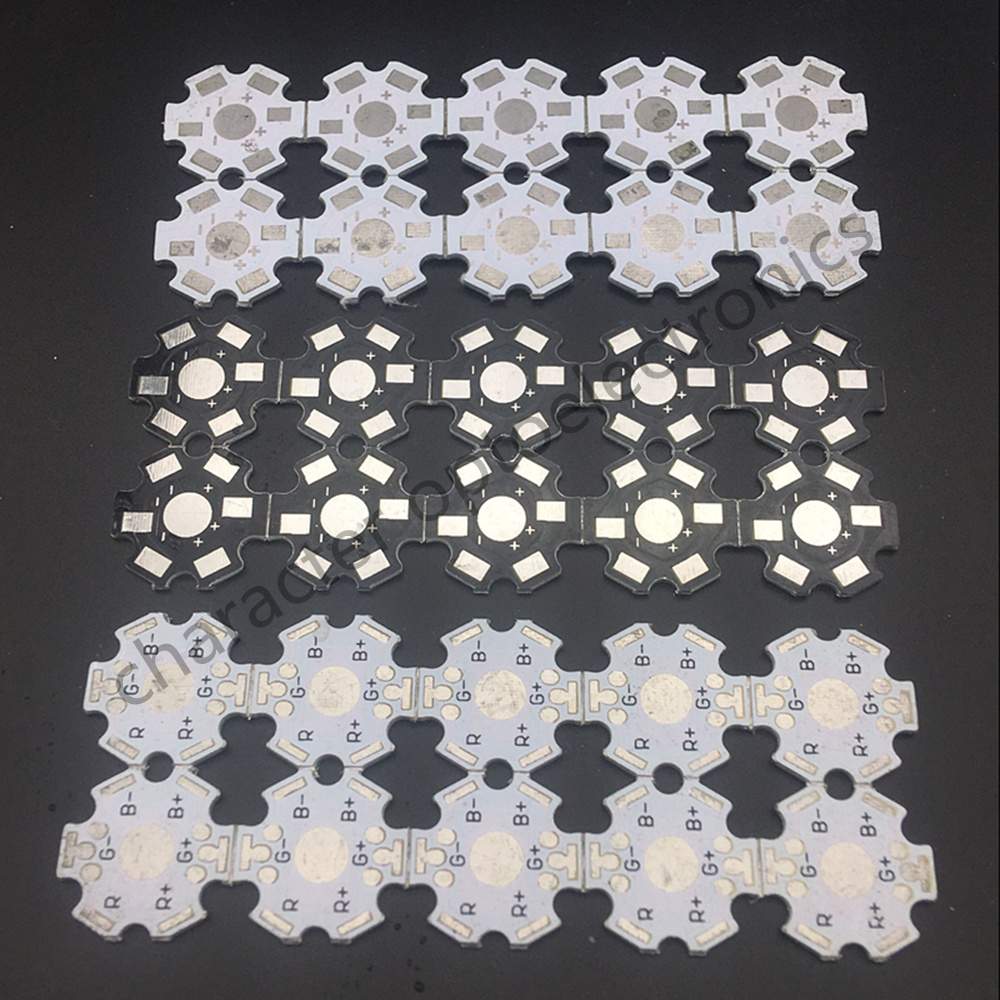 200pcs 1W 3W 5W Heat Sink LED Aluminum Base Plate PCB Board Substrate 20mm Star Kit DIY Cooling Heatsink 20 Mm For 1 3 5 W Watt