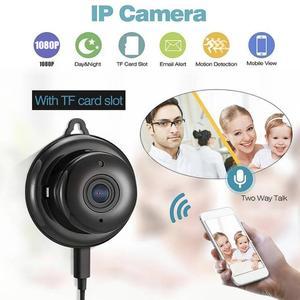 Image 5 - Cámara inalámbrica PTZ Wi Fi Micro Video CCTV vigilancia de seguridad con Wifi Mini cámara IP Nanny Cam Camara para el Sensor de movimiento del teléfono