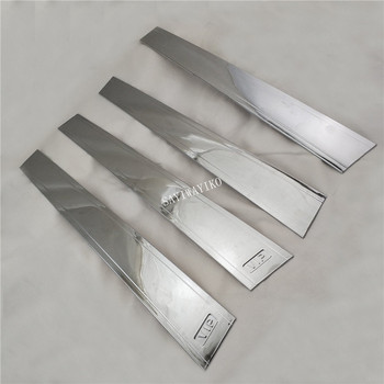 4pcs ABS Chrome PILLAR COVER CAR Accessories FOR Toyota Corolla 2001 FIELDER 2005-2012 PROBOX SUCCEED