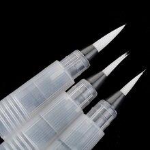 3 Pcs penna a inchiostro ricaricabile penna ad acqua penna ad acquerello pennello morbido per pittura calligrafo disegno forniture d'arte