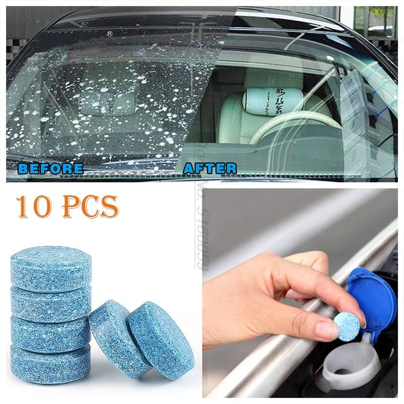 10 шт., 1 шт. = 4 л, автомобильные аксессуары, твердый очиститель для окон и стекол, для ремонта стекол, Limpia Parabrisas, противотуманный спрей, автомоб...