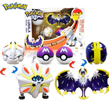 Pokemone Sun Moon Deformation Poke Action Figure Anime Toys Transformation Mewtwo Solgaleo Lunala Model Gift For Childrens - discount item  21% OFF Action & Toy Figures