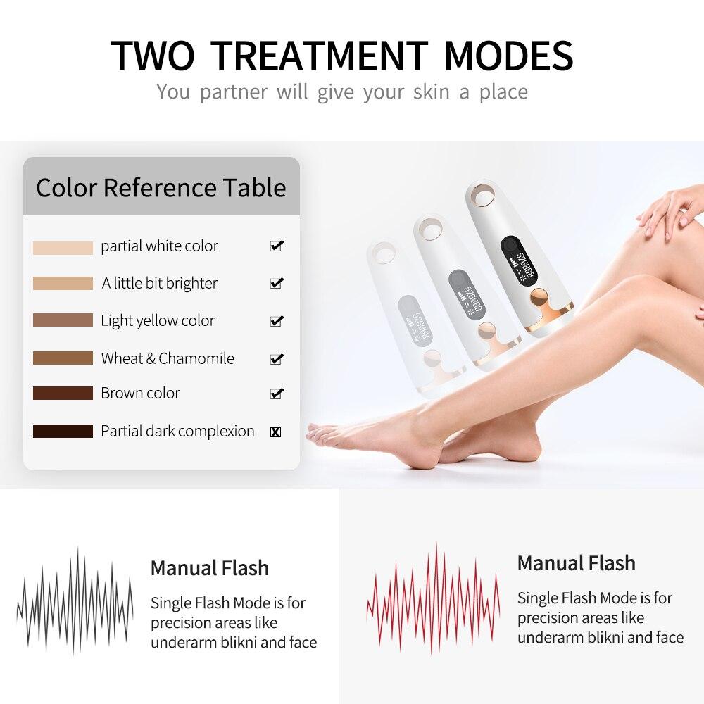 Depiladora láser IPL depilación permanente 500000 Flash táctil cuerpo pierna Bikini Trimmer fotodepiladora para mujeres Creamskin - 3