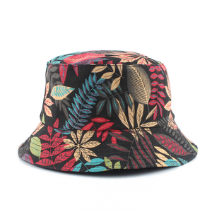 Unisex Summer Foldable Panama Bucket Hat Women Outdoor Cotton Fishing Hunting Hat Men Reversible Bucket Cap Chapeau Sun Hat