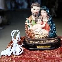 Католические святые огни статуя смолы ремесла Святого Дома  как креативные украшения для дома христианские украшения христианские подарки