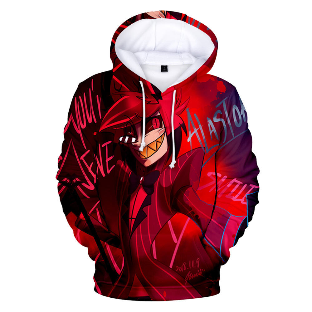 2019 New Animation movie Hazbin Hotel Hell Princess Charlie 3D Hooded sweatshirt Men/Women Casual Hip hop Hoodies Clothes image